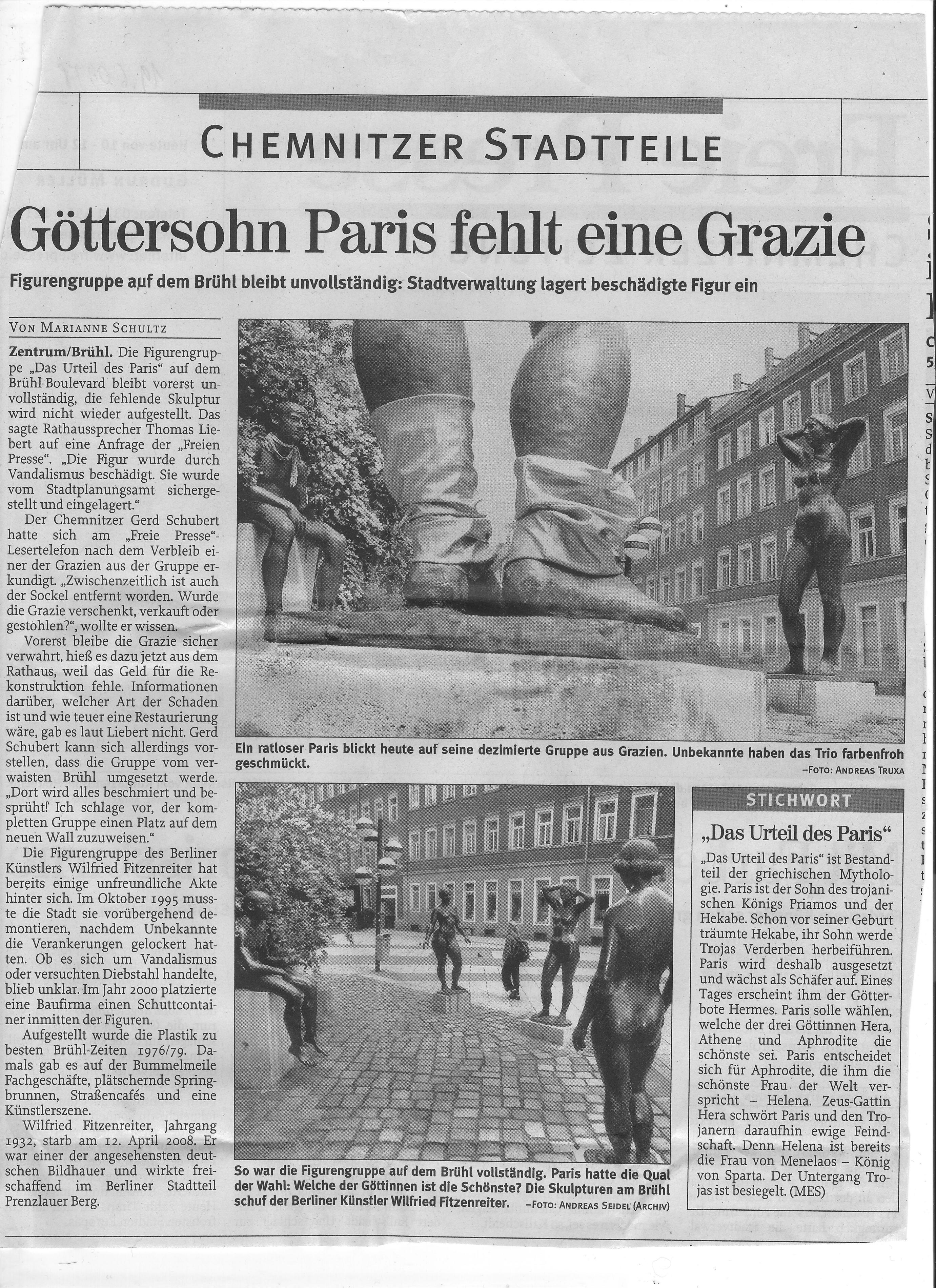 Freie Presse Chemnitz 19.06.09